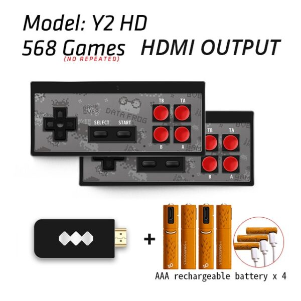 USB Wireless Handheld TV Video Game Console Build In 1400 Classic Game 4K 8 Bit Mini Video Console Support HDMI Output